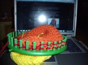 Jayne Hat in Progress - Ear flaps